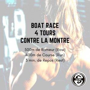 fiche entrainement boat race wod