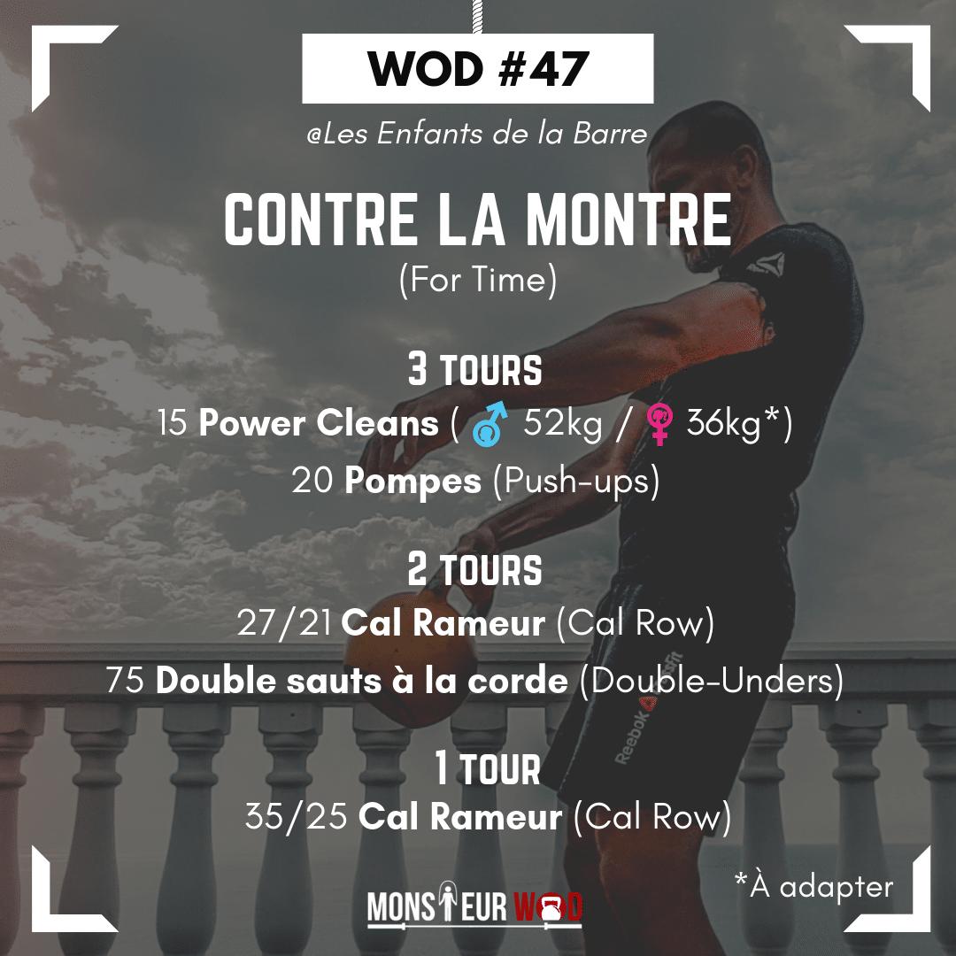 WOD #47 | Un entraînement de CrossFit original et complet