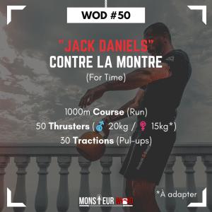 """fiche entraînement """"jack daniels"""" (course, thrusters et tractions)"""