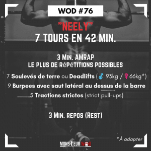 fiche entrainement wod neely