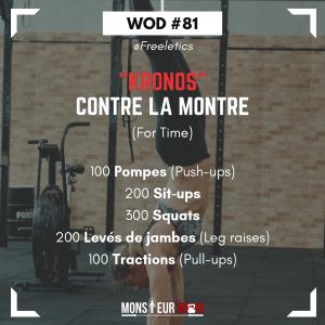 Fiche entraînement WOD kronos freeletics