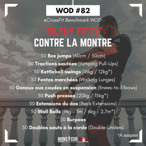 fiche entrainement filthy fifty wod
