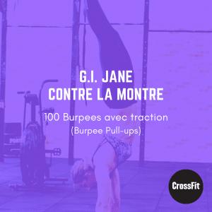 fiche entrainement wod G.I Jane