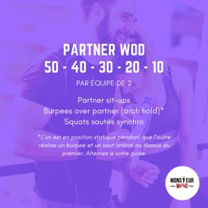 fiche entraînement partner wod