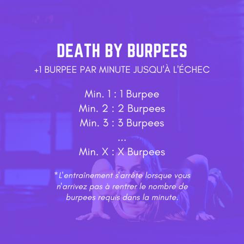 fiche entraînement wod death by burpees