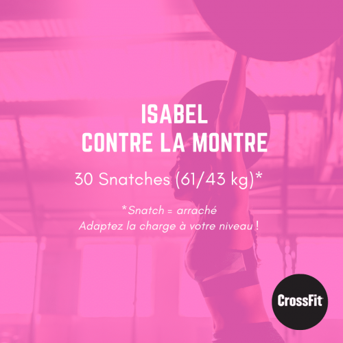 wod isabel crossfit monsieurwod entraînement