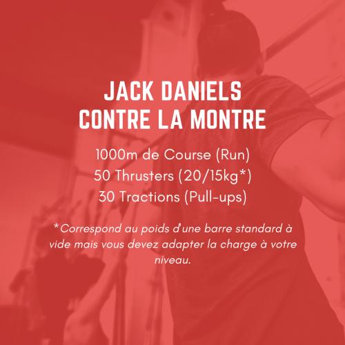 fiche entraînement 50 jack daniels