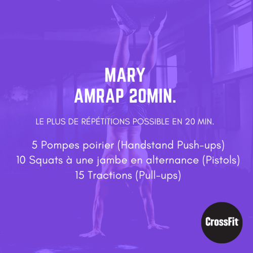 fiche entraînement wod mary the girl