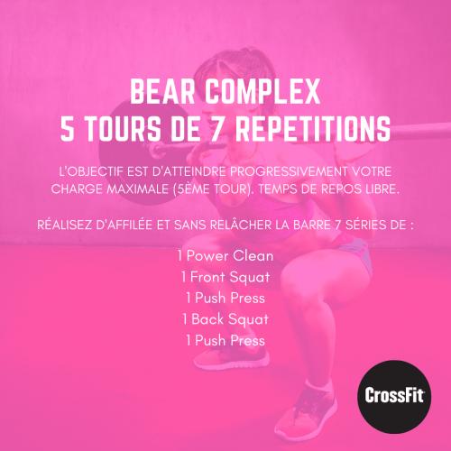wod bear complex crossfit monsieurwod